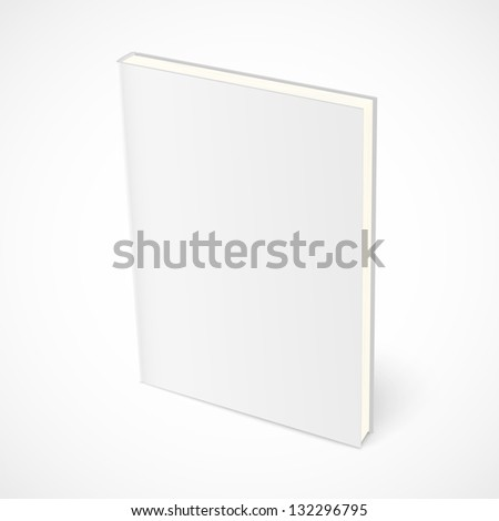 Empty standing book with white cover. Vector illustration - stock vector