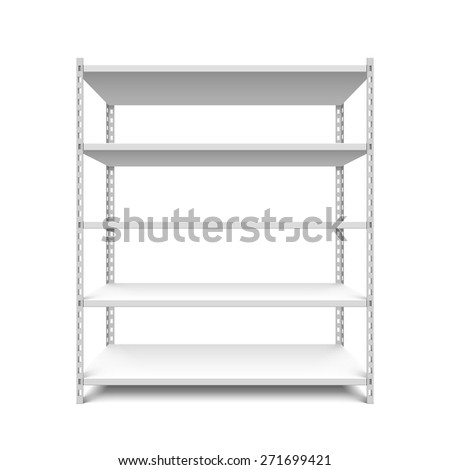 Empty storage shelves vector illustration - stock vector