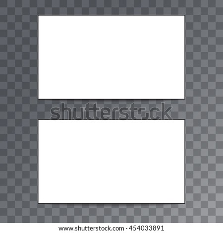 Empty template business card isolated on transparent background.