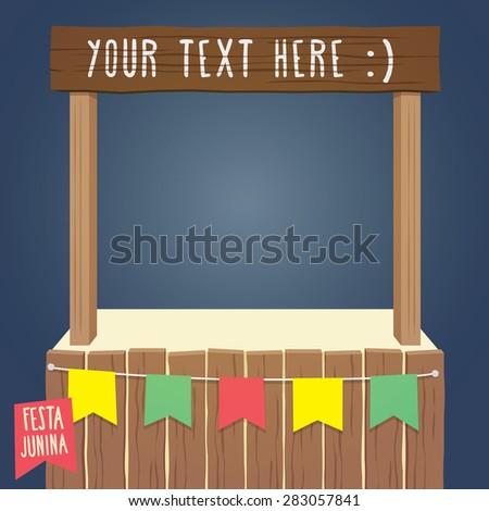 Empty Tent - June Festival / St. John's - EPS 10 with transparencies - stock vector