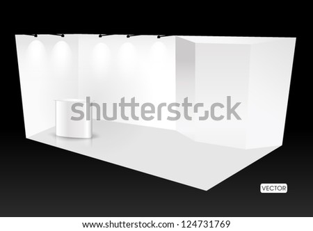 Empty trade show booth - stock vector