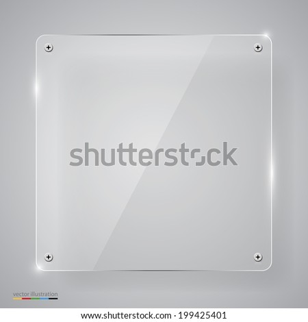 Empty transparent glass framework. Vector illustration - stock vector