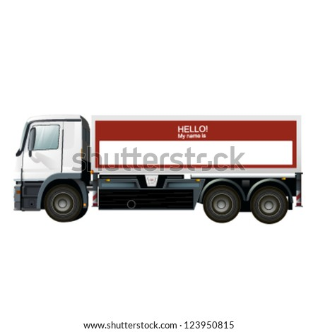 empty truck to place your company name or concept. vector design - stock vector