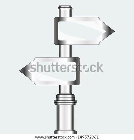 empty urban arrow boards on column. template for a text. EPS10 illustration