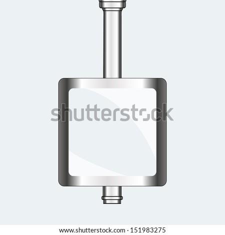empty urban blank billboard illustration. board EPS10 illustration - stock vector