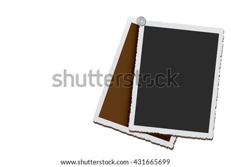 Empty vintage photo frames - stock vector