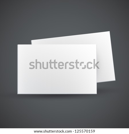 Empty white business card. Vector design. - stock vector