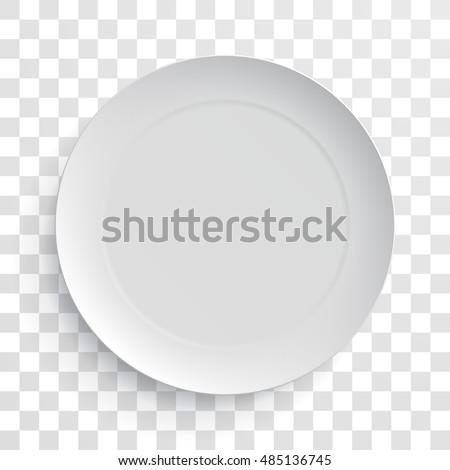 empty white dinner plate on fun stock photo 158902550