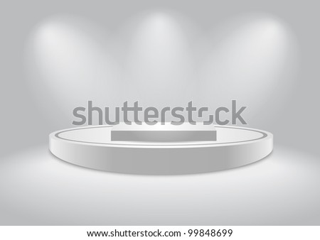 Empty white podium - stock vector