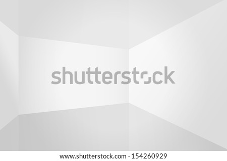 Empty white room space, interior for design and decoration - Vector illustration - stock vector