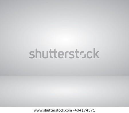 Empty white studio room background  - stock vector