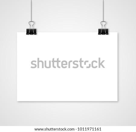 empty white vector horizontal poster templateのベクター画像素材