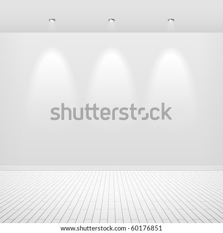 Empty white wall. Vector. - stock vector