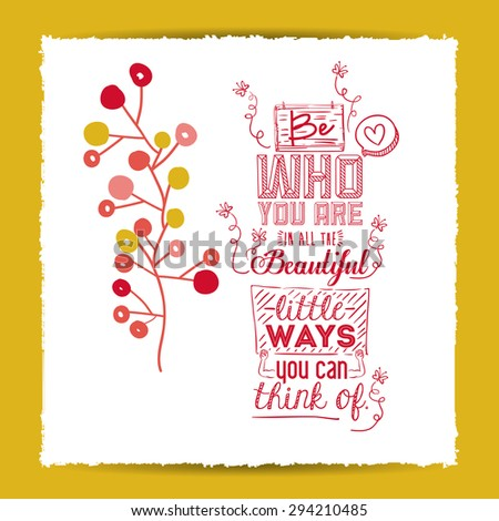 encourage quotes digital design, vector illustration eps 10 - stock vector
