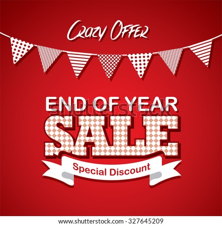 End of Year Sale - stock vector