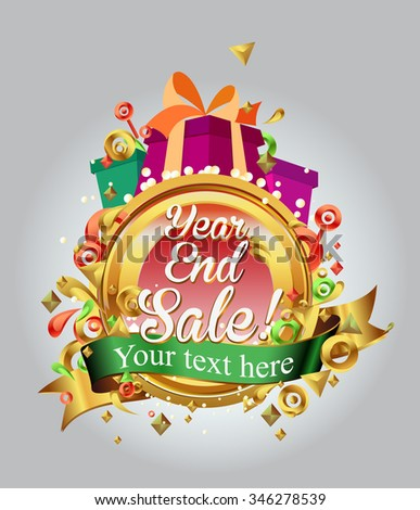 End of year sale vector campaign. promotion, banner, advertising, poster - stock vector
