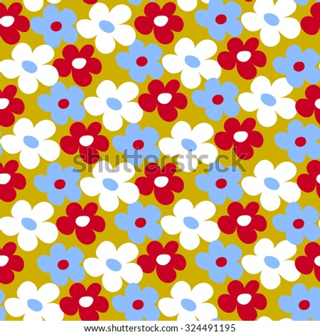 Endless fun floral pattern. Seamless texture - stock vector