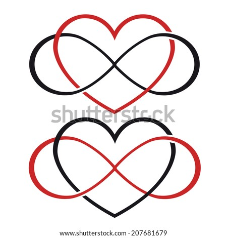 Endless love tattoo vector - stock vector