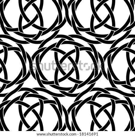 endless seamless knotwork pattern - stock vector