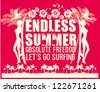 endless summer - stock vector
