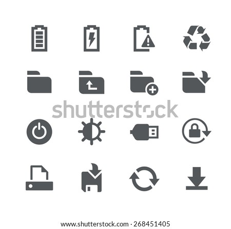 Energy and Storage // Apps Interface - stock vector