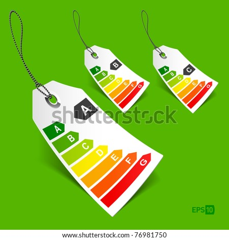 Energy classification tags. Vector - eps10 - stock vector