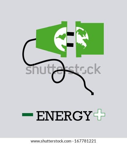 energy design over gray background vector illustration  - stock vector