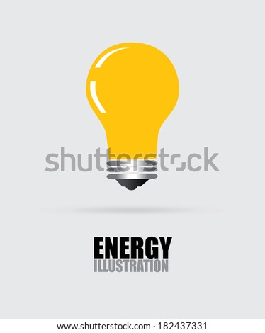 Energy design over gray background, vector illustration