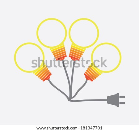 energy design over white background, vector illustration - stock vector