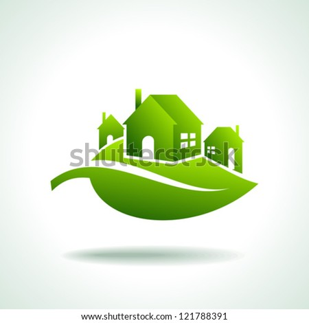 energy eco icon with house - stock vector