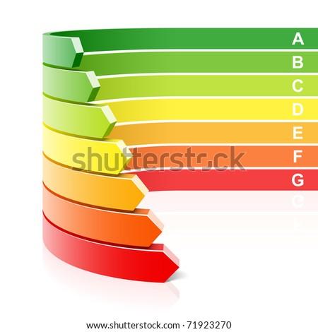 Energy efficiency concept. Vector. - stock vector
