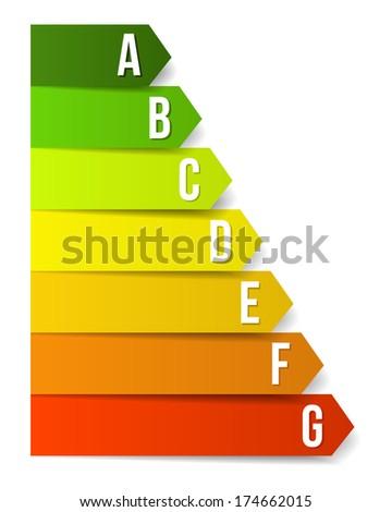 Energy efficiency label - stock vector