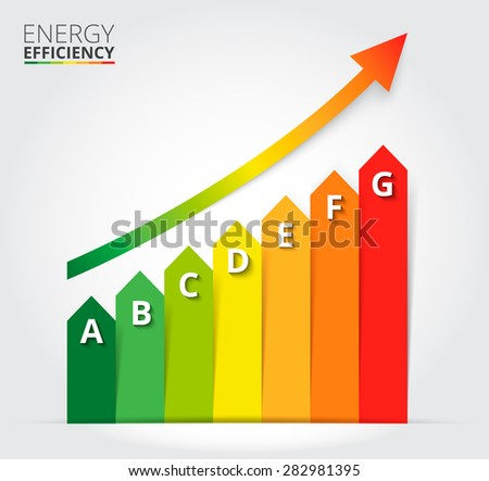 Energy efficiency rating. Vector Illustration.