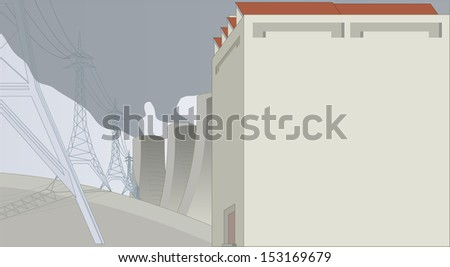 energy factory - stock vector