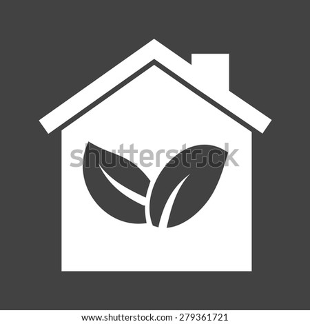 Energy, green house, nature icon vector image. Can also be used for energy and technology. Suitable for web apps, mobile apps and print media. - stock vector