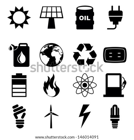 energy icons over white background vector illustration