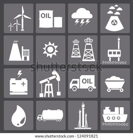 Energy icons,vector - stock vector