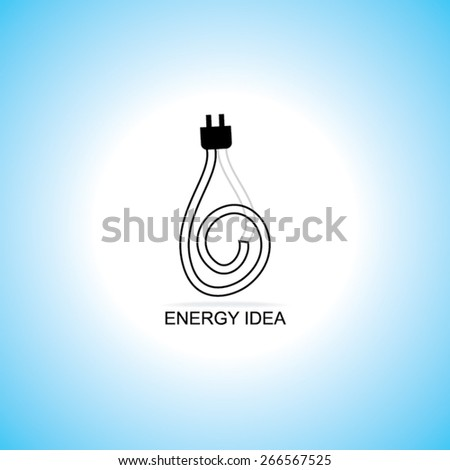 energy idea concept with electric pin  - stock vector