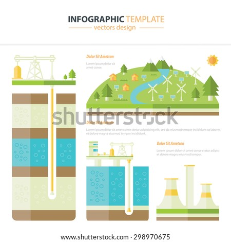 energy infographic - stock vector