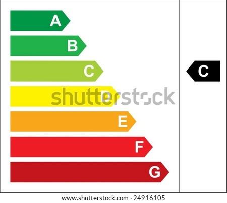 Energy rating VECTOR - stock vector
