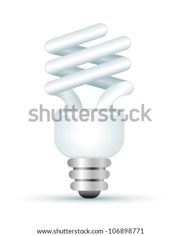 Energy Saver Lightbulb Illustration - stock vector