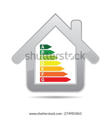 Energy saving certificate icon, green building concept. - stock vector