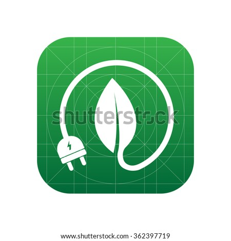 Energy saving icon for web and mobile - stock vector