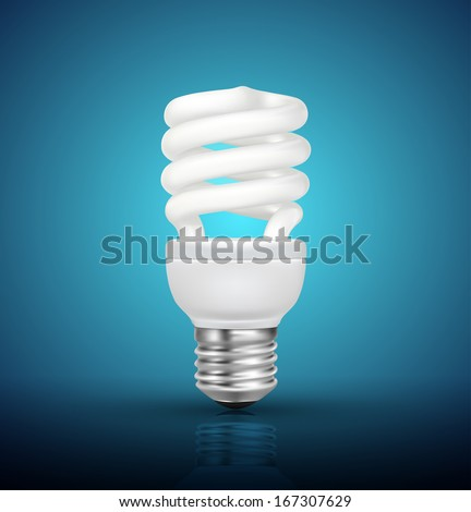 Energy saving lamp - stock vector