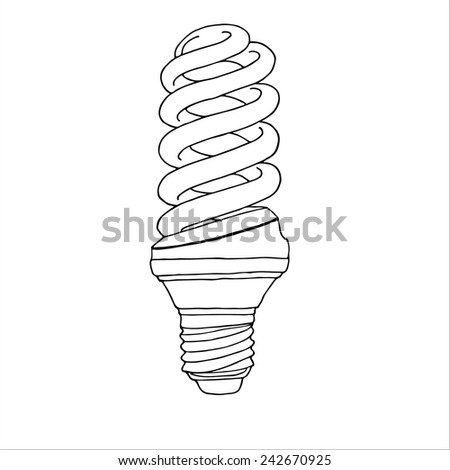 Energy saving lamp - stock vector