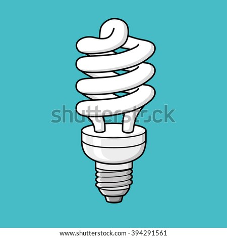 Energy saving lamp icon. - stock vector