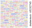 ENERGY. Word collage on white background. Illustration with different association terms. - stock photo