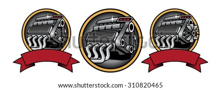 Engine Icons - stock vector