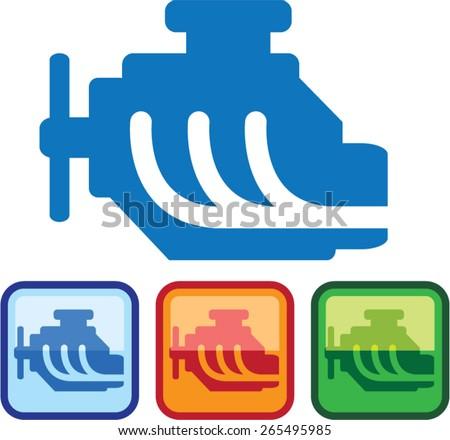 Engine Logo vector - stock vector