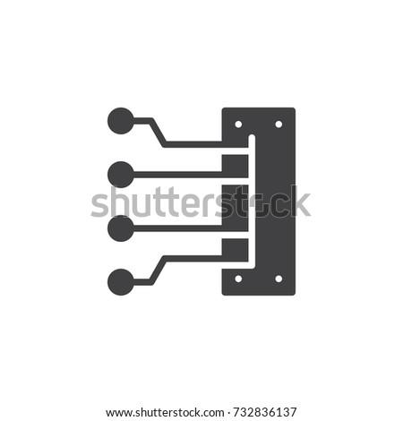 Engine Spark Plug Wires Icon Vector Stock Photo (Photo, Vector ...